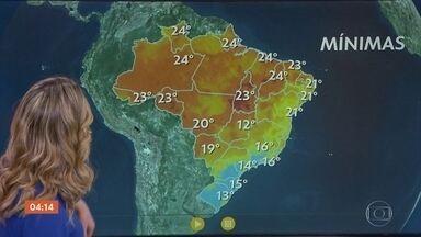 Previsão é de chuva no Nordeste - Pode chover também no leste do Paraná nesta quarta-feira.