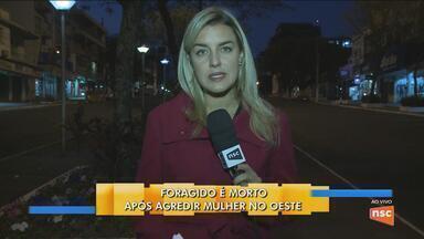 Foragido é morto após agredir mulher em Abelardo Luz - Foragido é morto após agredir mulher em Abelardo Luz