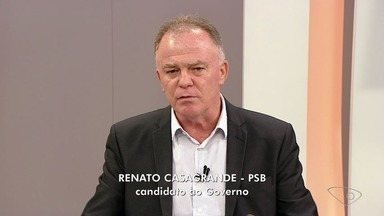 ESTV 1ª Edição entrevista Renato Casagrande - Candidato do PSB ao governo do ES é o terceiro participante da série de entrevistas.
