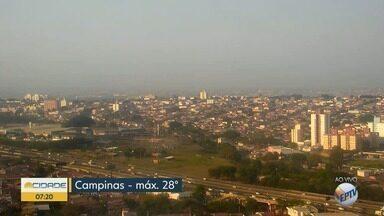 Campinas tem máxima de 28ºC nesta quinta-feira - Confira a previsão do tempo nas cidades da região.