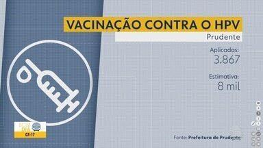 Busca pela vacina contra o HPV ainda é tímida no Oeste Paulista - Em Prudente, foram aplicadas 3.867 vacinas em 201