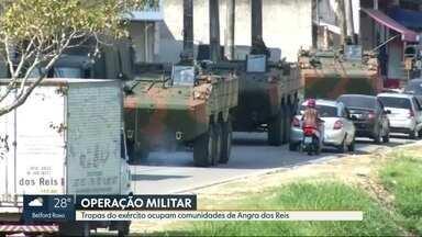 Exército faz operação em Angra dos Reis - Pelo menos seis comunidade estão ocupadas e mais de 500 alunos ficaram sem aulas