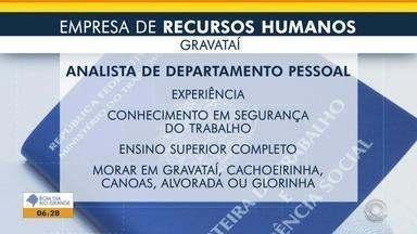 Empresa de recursos humanos oferece vaga para analista de departamento pessoal em Gravataí - Veja os benefícios e como participar da seleção.