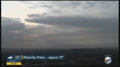 Veja a previsão do tempo para este final de semana em Ribeirão Preto - Há previsão de pancadas de chuva.
