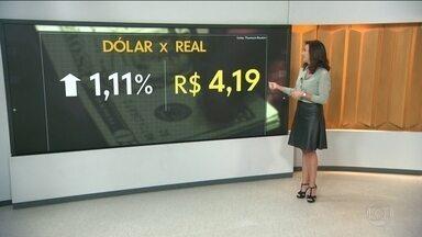 Dólar fecha a R$ 4,19 e bate novo recorde histórico de fechamento - Moeda dos EUA avançou 1,11%, a R$ 4,1952 na venda; valor é o maior já registrado em relação ao real.