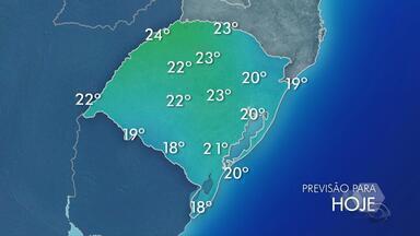 Tempo: chove em todas as regiões do RS nesta sexta-feira (14) - Temperaturas chegam aos 24ºC em cidades do estado.