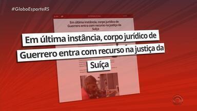 Paolo Guerrero entra na justiça na tentativa de revogar a punição por dopping - Atacante está suspenso pela FIFA até abril de 2019.