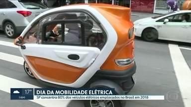 SP concentra 80% dos emplacamentos de veículos elétricos do Brasil em 2018 - Imensa maioria dos novos veículos elétricos ou híbridos roda em cidades paulistas, de acordo com levantamento da Associação Brasileira dos Veículos Elétricos.