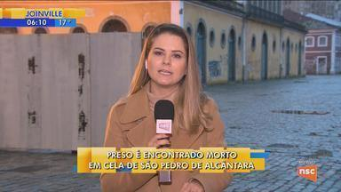 Detento de 27 anos é encontrado morto na penitenciária de São Pedro de Alcântara - Detento de 27 anos é encontrado morto na penitenciária de São Pedro de Alcântara