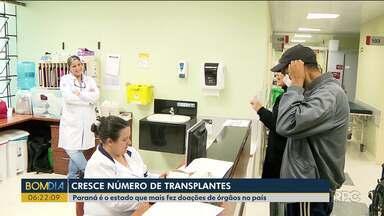 O Paraná é o estado que mais realizada transplantes de órgãos no Brasil - De janeiro a julho, 324 pessoas foram doadoras. Um crescimento de 24% em relação a 2017
