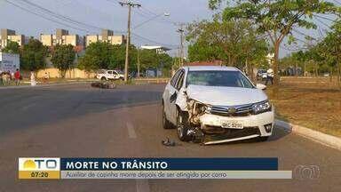 Cozinheira morre após motocicleta ser atingida por carro em cruzamento - Cozinheira morre após motocicleta ser atingida por carro em cruzamento