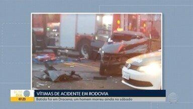 Polícia investiga causas de acidente com uma pessoa morta e quatro feridas - Veículos bateram de frente na Rodovia Comandante João Ribeiro de Barros.