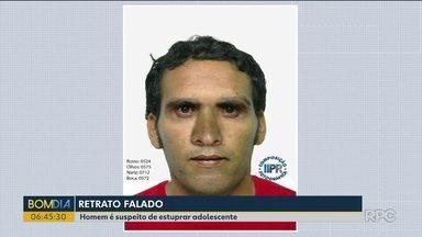 Policia divulga retrato falado de homem suspeito de estupro em Londrina - O crime foi em agosto.