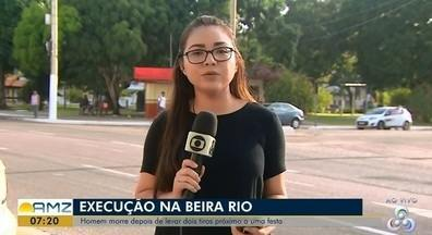 Jovem de 18 anos foi assassinado a tiros ontem (16) no complexo Beira-Rio, no AP - Crime aconteceu em um dos quiosques próximo ao Trapiche Eliezer Levi. Polícia acredita em acerto de contas, pois nada foi levado da vítima
