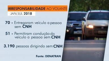 Dados mostram que mais de 3 mil pessoas foram flagradas dirigindo sem CNH no Tocantins - Dados mostram que mais de 3 mil pessoas foram flagradas dirigindo sem CNH no Tocantins