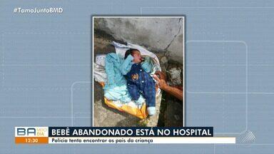 Polícia investiga caso de bebê abandonado na Orla de Salvador - O garoto estava vestido e enrolado numa manta; confira.