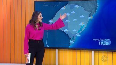 Tempo: instabilidade provoca chuva em todas as regiões do RS nesta segunda-feira (17) - Na terça-feira (18), a previsão é que o sol reapareça na maior parte do estado.