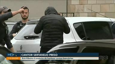 Cantor sertanejo é preso suspeito de ser hacker - A prisão foi numa operação do Gaeco de combate a uma quadrilha de hackers que teria roubado 30 milhões de reais.