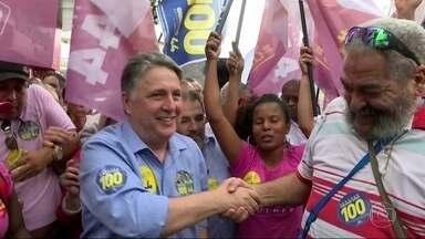 Garotinho faz campanha em Campo Grande - Candidato do PRP, Anthony Garotinho visitou Campo Grande, na Zona Oeste do Rio.