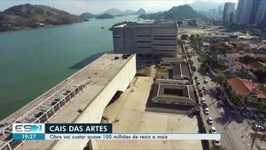 Retomada de obras do Cais das Artes é autorizada para 2019, diz governo do ES - Autorização do edital de contratação foi dada por Paulo Hartung, mas quem decide se a obra segue é o próximo governante. Segundo o anúncio, custo vai ser de quase R$ 100 mil a mais que o previsto.