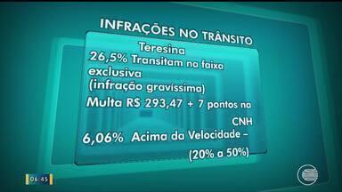 Falta de educação aumenta o número de infrações de trânsito em Teresina - Falta de educação aumenta o número de infrações de trânsito em Teresina