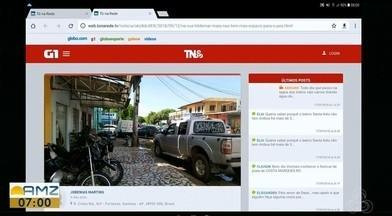 Tô na Rede: obstrução de passeio público em Macapá, no AP - Internauta registra pelo aplicativo da Rede Amazônica, que no trecho da rua Hildemar Maia no buritizal tem calçada obstruída, dificultando a passagem dos pedestres