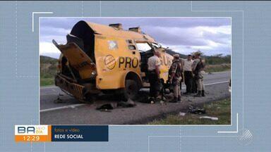 Bandidos matam segurança durante assalto a carro forte próximo ao município de Boa Nova - O caso aconteceu em um trecho da BR-116. A polícia está investigando a autoria do crime.