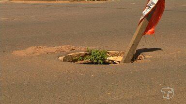 Bueiros sem tampas e mal sinalizados aumentam riscos de acidentes em Santarém - Risco eminente a pedestres e motoristas é um problema antigo no município.