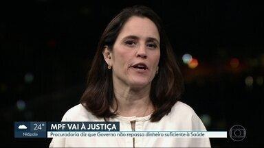 MPF entra na justiça contra governo do RJ por falta de repasses à Saúde - Procuradoria diz que estado não vem cumprindo o mínimo previsto na Constituição, que é o repasse de 12% do orçamento para a Saúde.