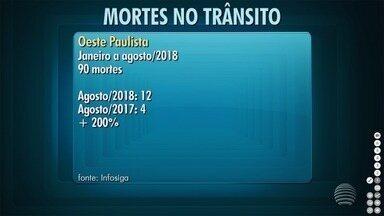 Região de Presidente Prudente registra aumento no número de mortes no trânsito - Dados foram divulgados pelo Infosiga.