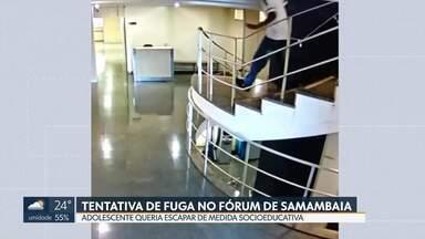 Menor infrator tenta fugir durante audiência no Fórum de Samambaia - Adolescente reagiu quando soube que seria internado para cumprir medida protetiva.