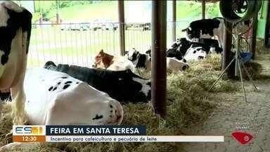 Feira de Café com Leite começa em Santa Teresa, no ES - No evento serão discutidas as alternativas para incrementar a cafeicultura e a pecuária de leite.