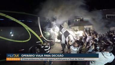 Operário viaja para final da Série 'C' em Cuiabá - Fantasma ainda treina na sexta-feira (21) antes da decisão.