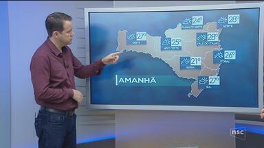 Veja como ficará o tempo em todas as regiões de SC nesta sexta-feira (21) - Veja como ficará o tempo em todas as regiões de SC nesta sexta-feira (21)