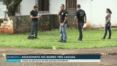 Homem é assassinado na região do Três Lagoas em Foz - Crime foi em plena luz do dia.