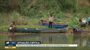 Nível do Paraíba do Sul está muito abaixo do normal - O número já é um dos mais baixos dos últimos anos.