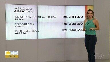 Confira a cotação do café e do boi gordo no Espírito Santo - Veja informações do mercado agrícola.