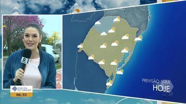 Tempo: temperaturas chegam aos 31ºC em cidades do RS nesta sexta-feira (21) - Apesar do calor, a previsão é que o dia fique mais nublado.