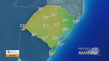 Tempo: sábado (22) deve ter predomínio de sol e temperaturas de até 33ºC no RS - No domingo (23), início da primavera, deve ter chuva no estado.