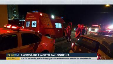 Empresário morto em Londrina foi enterrado - Ele foi baleado por ladrões que tentaram roubar o carro.