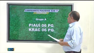 Piauí e Krac garantem vaga para a próxima rodada do Piauiense sub 17 - Piauí e Krac garantem vaga para a próxima rodada do Piauiense sub 17