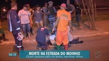 Motoqueiro morre na estrada do moinho - Motoqueiro morre na estrada do moinho
