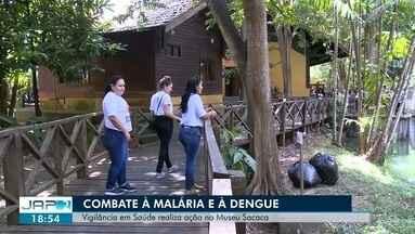 Agentes da vigilância em saúde realizaram uma ação no Museu Sacaca, no AP - Objetivo é combater doenças como a dengue e a malária