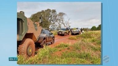 Foças de segurança fazem operação em Mato Grosso do Sul, na região de fronteira - Operação inclui até o Exército Brasileiro.
