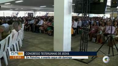 Congresso Testemunhas de Jeová é realizado em Petrolina - O evento segue até o domingo (23).