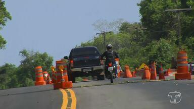 Órgãos de segurança reforçam fiscalização na estrada de Alter do Chão no Sairé - A PA-457 está com barreira na estrada até segunda-feira (24).