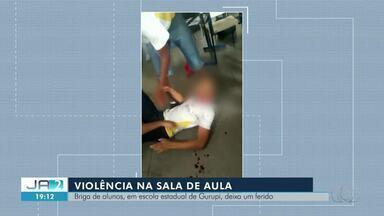 Briga dentro de sala de aula deixa estudante ferido em Gurupi - Briga dentro de sala de aula deixa estudante ferido em Gurupi