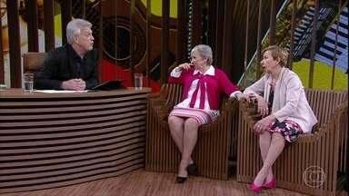 Meire e Marilene Galvão falam sobre suas memórias mais antigas de suas apresentações - Durante as perguntas de Bial, Marilene, que sofre de Alzheimer, se perdeu em suas respostas na hora de respondê-las