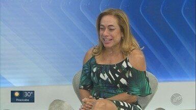 'Em Cena': Confira entrevista com a atriz e apresentadora Cissa Guimarães - Ela está de volta a Campinas (SP) com a peça 'Doidas e Santas'.