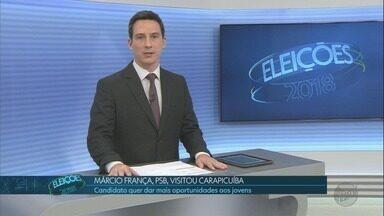 Veja como foi o sábado (22) dos candidatos ao governo de SP - TV Globo acompanha os concorrentes nas Eleições 2018.